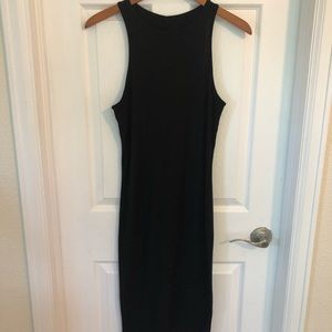 Plain black tank dress
